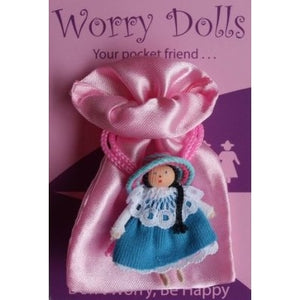 Pocket Friends Worry Doll with Blue Dress