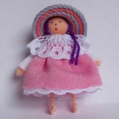Worry Doll with Pink Dress