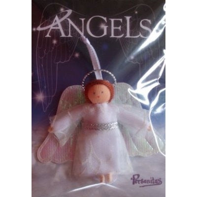 Pocket Friends Angel Doll with White Dress and White Wings