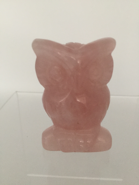 Rose Quartz Owl
