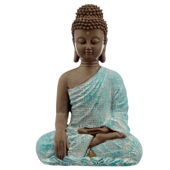 Brown, White and Turquoise Thai Buddha - Peace