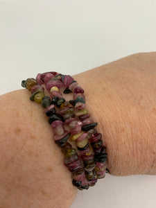 Tourmaline Mixed Chip Bracelet