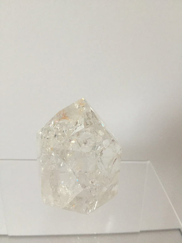 Crackle Quartz - 6 Sided - Standing Point