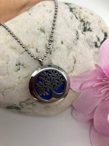 Aromatherapy Necklace - Tree of Life - Blue