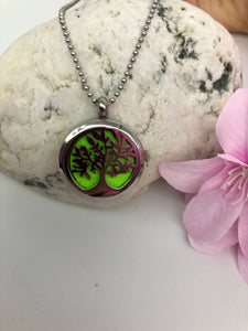 Aromatherapy Necklace - Tree of Life - Green