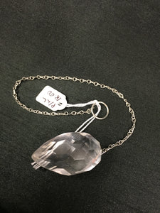 Large Clear Quartz Faceted Dowsing Pendulum