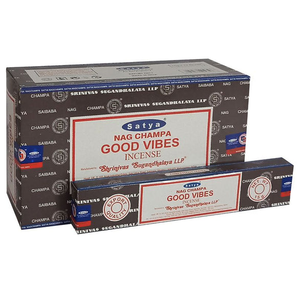 Satya Good Vibes Nag Champa Incense Sticks