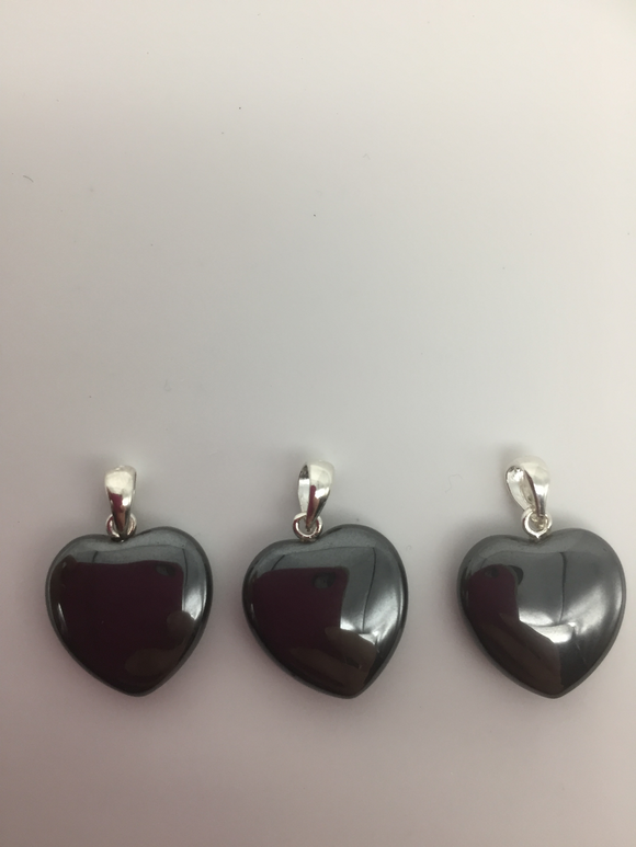 Hematite Mini Heart Pendant