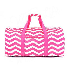 "22"" Gym Duffel Bag - Fuchsia and White Zig Zag"