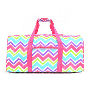 "22"" Gym Duffel Bag - Multi Pink Zig Zag"