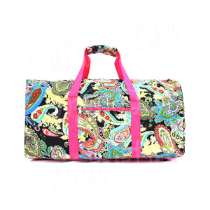 "22"" Gym Duffel Bag - Multi Paisley with Pink Trim"