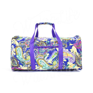 "22"" Gym Duffel Bag - Blue and Purple Paisley"