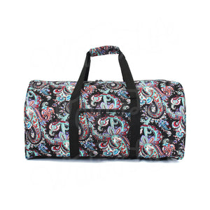 "22"" Gym Duffel Bag - Multi Dark Paisley"
