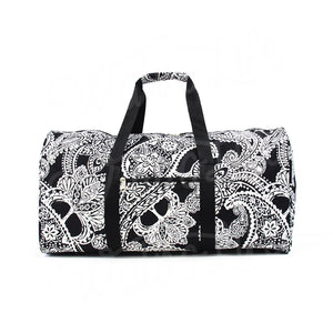 "22"" Gym Duffel Bag - White Paisley"