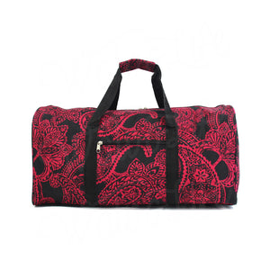 "22"" Gym Duffel Bag - Fuchsia Paisley"