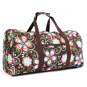 "22"" Gym Duffel Bag - Brown Daisy"