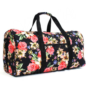 "22"" Gym Duffel Bag - Rose and Lily Flower"