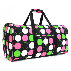 "22"" Gym Duffel Bag - Multi Polka Dots"