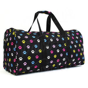 "22"" Gym Duffel Bag - Multi Dog Paws"