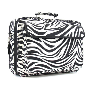 "17"" Laptop Briefcase Bag - Zebra with Black Trim"