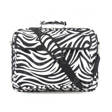 "Load image into Gallery viewer, 17"" Laptop Briefcase Bag - Zebra with Black Trim"