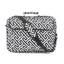 "Load image into Gallery viewer, 17"" Laptop Briefcase Bag - Black Greek Key"