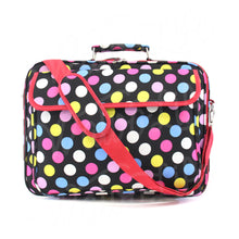 "Load image into Gallery viewer, 17"" Laptop Briefcase Bag - Multi Color Dots"