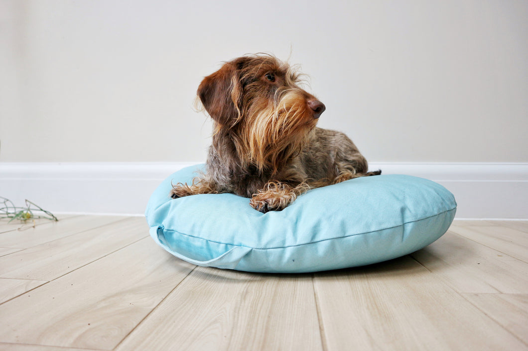 MACARON EARL GREY - Round Pebble Dog Bed