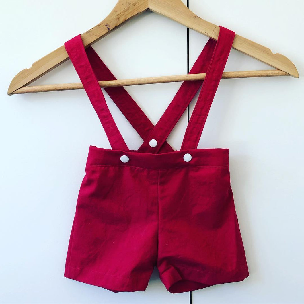 Tailored Shorts & Suspenders-Baby-Mumma & Co Handmade