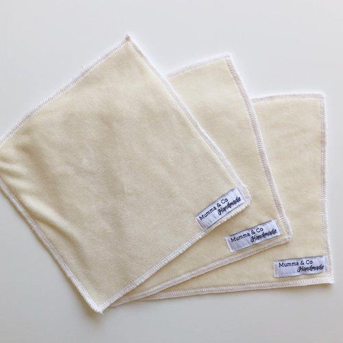 Natural Bamboo Reusable Baby Wipes: 5 Pack-Accessories-Mumma & Co Handmade