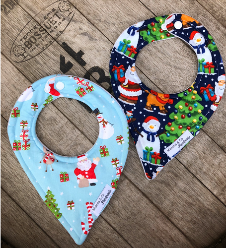 Christmas Leak Proof Dribble Bibs