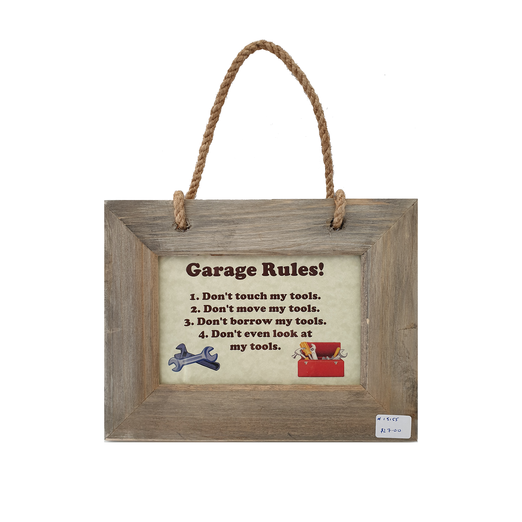Garage Rules Sign