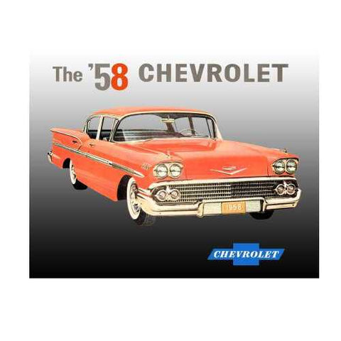 '58 Chevy Tin Sign