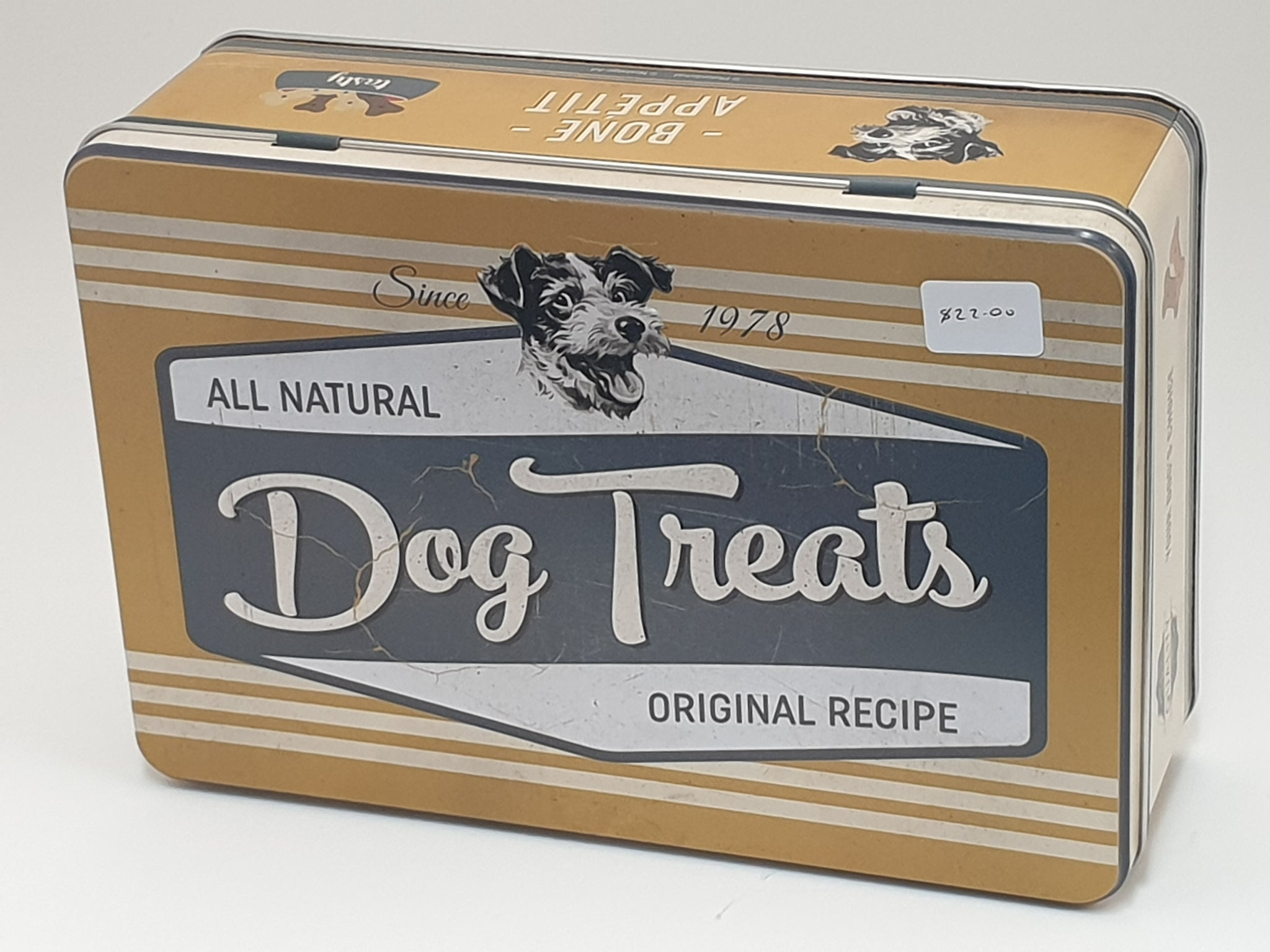 Dog Treats Metal Tin