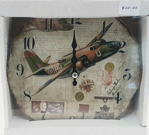 WW II Aircraft Commemorative Clock