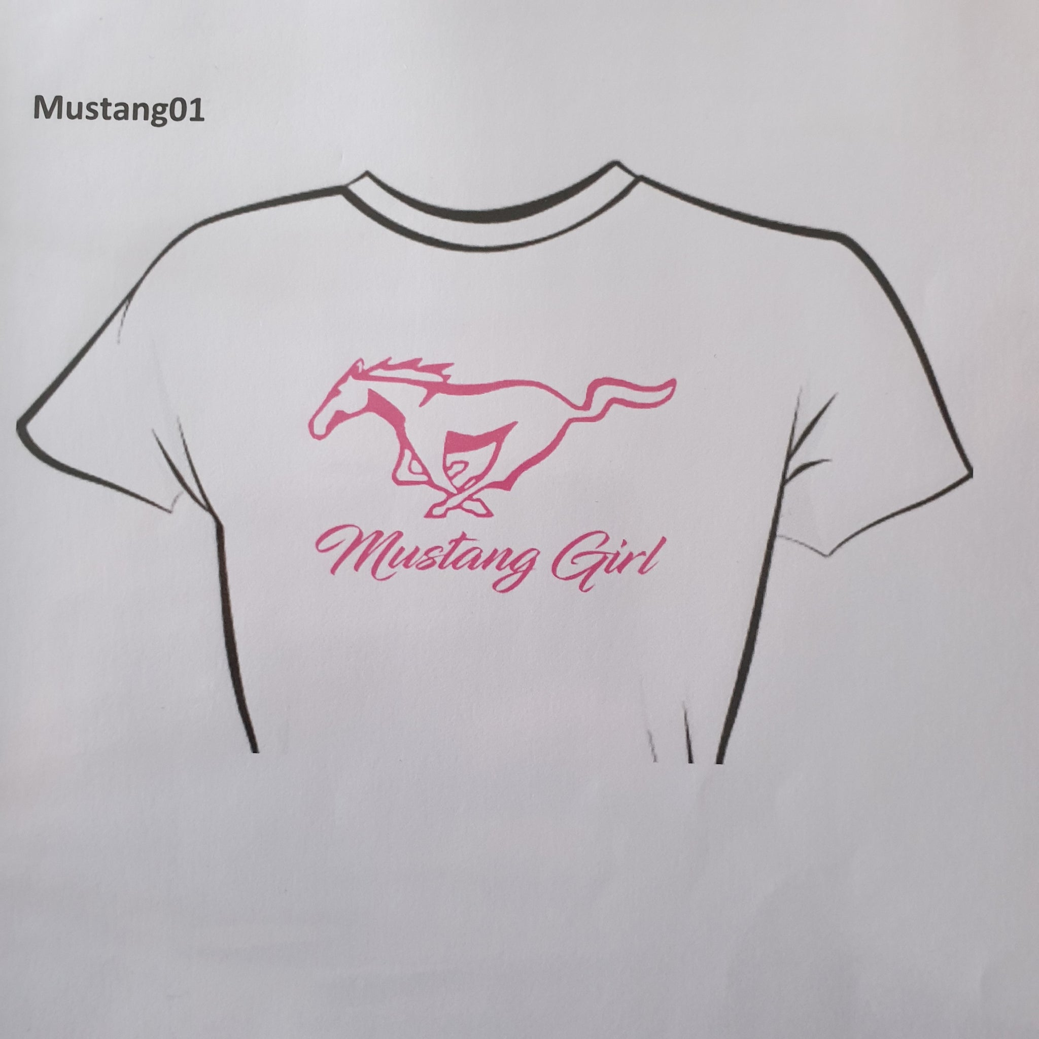 Womens Mustang Girl - Tee Shirt - Sweat Shirt - Hoodie