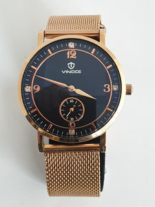 Rose Gold Vinoce Mens Watch
