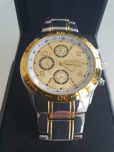 Rosra Silver and Gold Watch