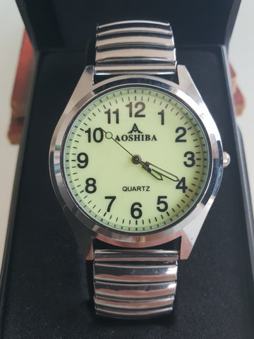 Aoshiba Mens Silver Wristwatch