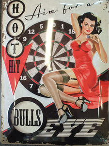 Bulls Eye Tin Sign