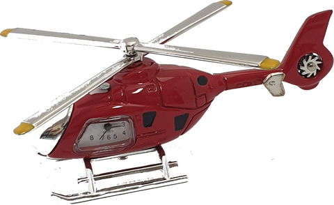 Helicopter Clock in Red