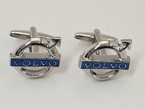 Chrome Volvo Cufflinks