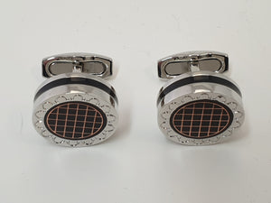 Chrome Round Cufflinks
