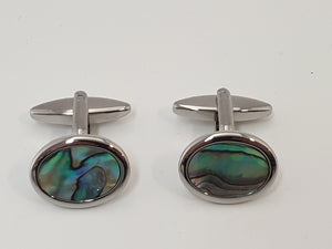 Oval Paua Cufflinks