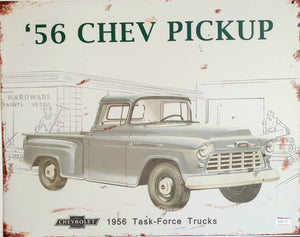 '56 Chevy Pickup Tin Sign