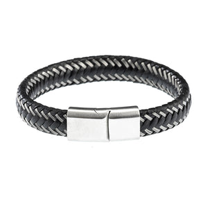 Cudworth Steel Leather Bracelet
