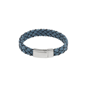 Cudworth S/s Blue Italian Leather Bracelet