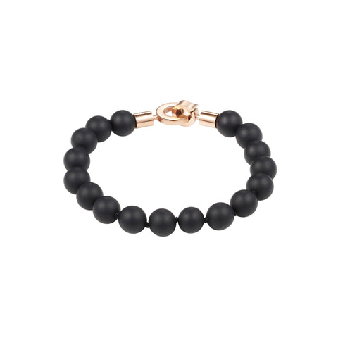 Cudworth Black Agate/IP RG Bracelet