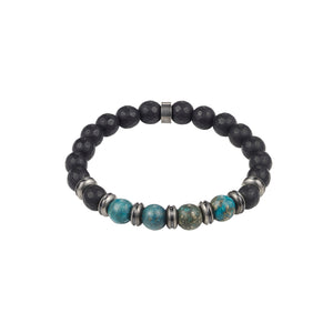 Cudworth Black/Green Hermatite Steel Bead Bracelet