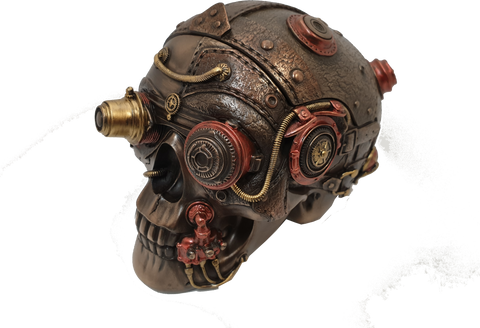 Steampunk Skull Trinket Box